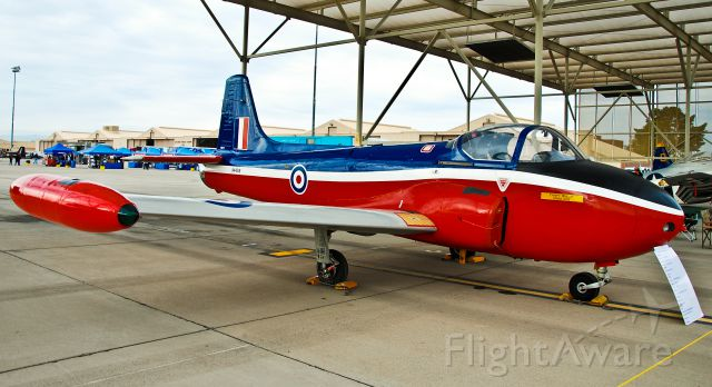 HUNTING PERCIVAL P-84 Jet Provost (N4421B) - 1965 British Jet Provost MK-3A Pilot Training Aircraft T-3A  N4421B (cn PAC/W/11803) - Nellis Air Force Base (KLSV) Aviation Nation 2011 TDelCoro
