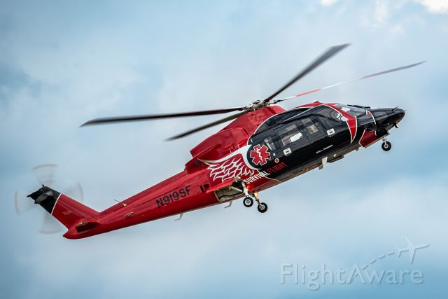 Sikorsky S-76 (N919SF) - Survival Flight moving their helicopter before some bad weather arrived.