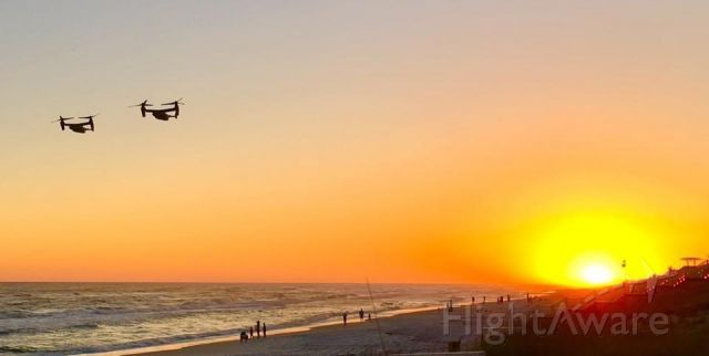 """— — - """"Osprey's Prowl at Dusk"""" - Seaside, FL br /I was lucky enough to capture these beautiful aircraft in formation over the beach as the sun was setting.  br /© Mike Dinndorf 2017"""
