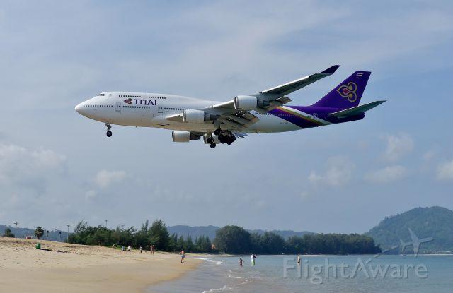 Boeing 747-400 (HS-TGX) - Phuket(HKT) R/W09 2018/04/03