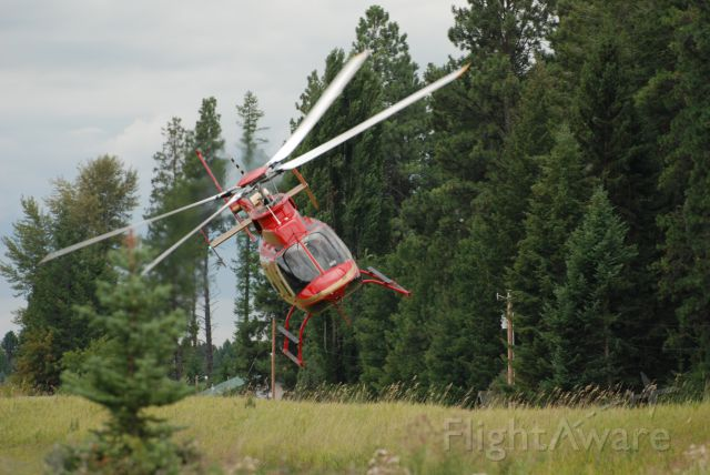 Bell 407 (N407KH) - A.L.E.R.T. during PR mission at Columbia Falls, MT