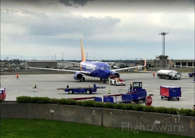 Boeing 737-700 (N567WN) - Pushing back for departure to Las Vegas