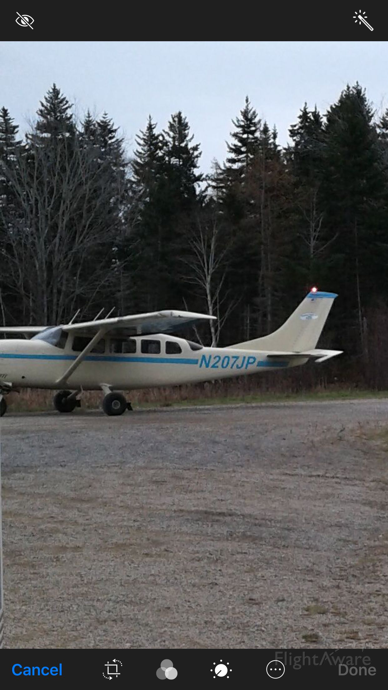 Cessna T207 Turbo Stationair 8 (N207JP) - On EMS duty in Maine