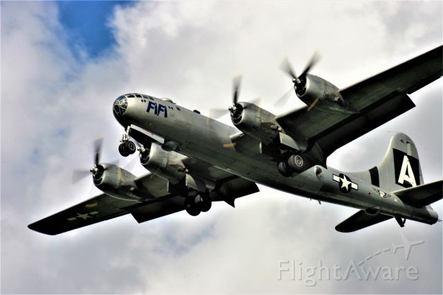 Boeing B-29 Superfortress (N529B) - B-29 Fifi on final approach at Appleton EAA Airventure 2016.