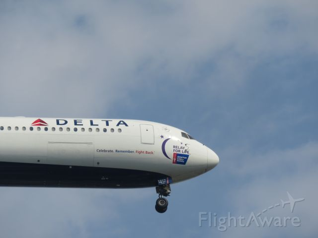 "BOEING 767-400 (N841MH) - A Delta 764 in the ""Relay for Life"" livery landing on JFK"