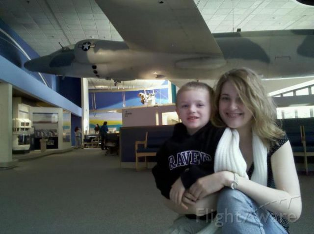 Lockheed ER-2 — - My son with his aunt at the National Air and Space Museum in Washington, DC.
