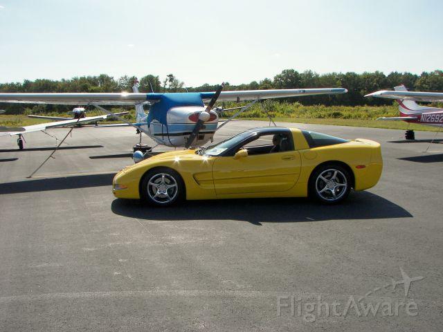 Cessna Skyhawk (N520RG) - Our C5 Corvette with N520RG.