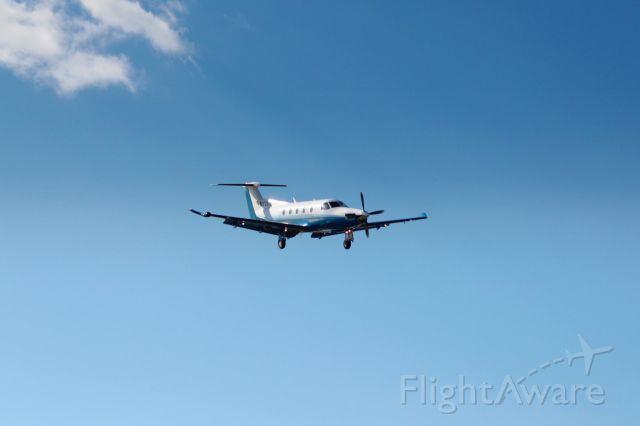 Pilatus PC-12 (N776AF) - Nice landing of this  Pilatus PC-12