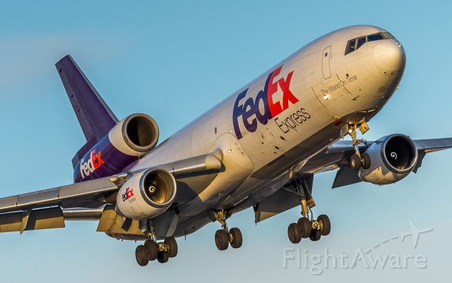 McDonnell Douglas DC-10 (N313FE) - FEDEX 148 lines up for runway 23 at YYZ