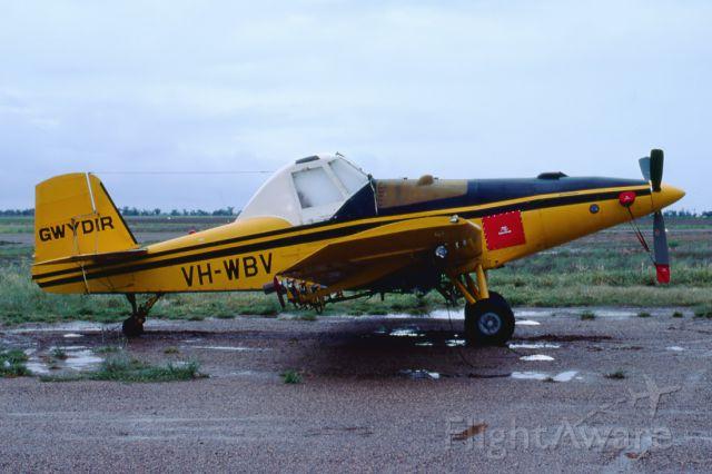 VH-WBV — - AYRES S2R-T THRUSH - REG : VH-WBV (CN 2529r) - MOREE AIRPORT NSW. AUSTRALIA - YMOR (4/3/1982)