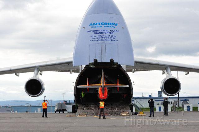 Antonov An-124 Ruslan (ADB1714) - Loading Gannet N752XT South Ramp Goose Bay