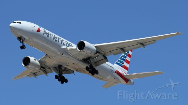 Boeing 777-200 (N753AN) - 05/06/2021:  Flight from Miami on landing path to runway 30. <br />Duration was 11h37m.