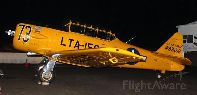 "North American T-6 Texan (N158JZ) - T6 Class:     Race 73 .... ""Miss Humboldt Hunny"" .... North American T-6G ..... N158JZ (formerly 493158) .... Pilot: Ralph Rina (Mesa, AZ)"