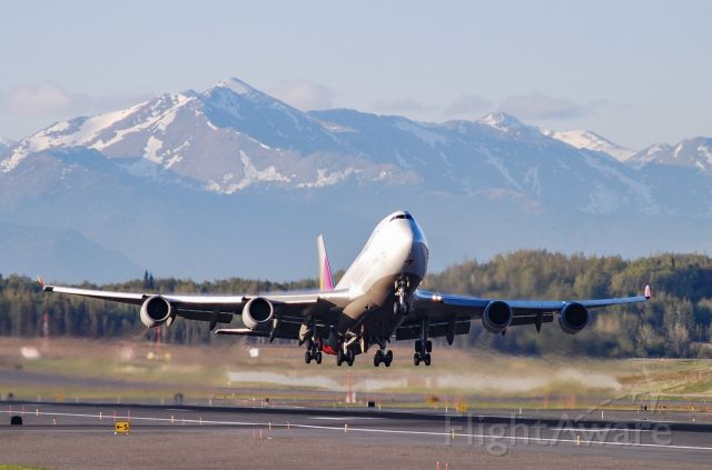 Boeing 747-400 (HL7616) - Most beautiful aviation scenery the world has to offer!  Anchorage, Alaska!  5/23/21.