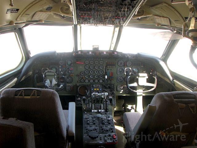HB-ICC — - Cockpit of the Swissair Convair 990A Coronado.