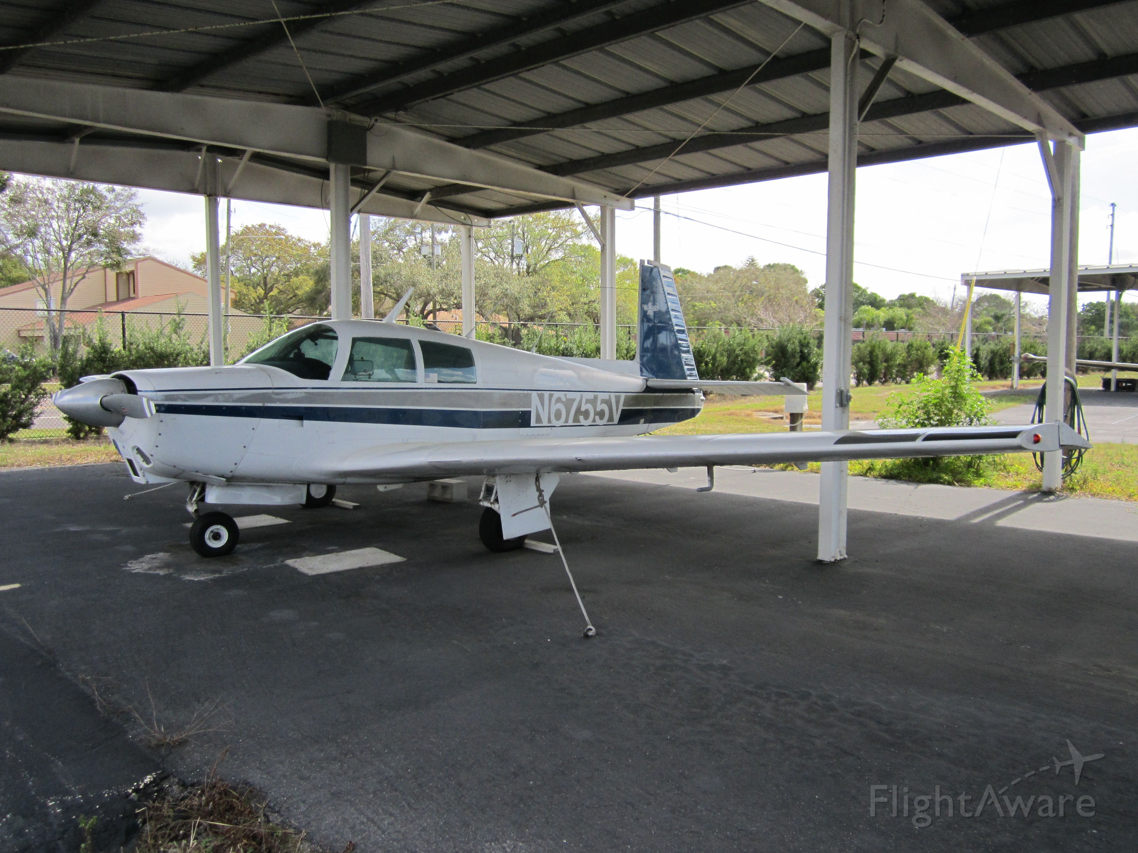 Mooney M-20 (N6755V) - CLEARWATER AIRPARK, CLEARWATER, FL, USA  02.22.2013