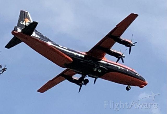 Antonov An-12 (UR-CJN) - First time spotting this Ukrainian aircraft in South Texas!