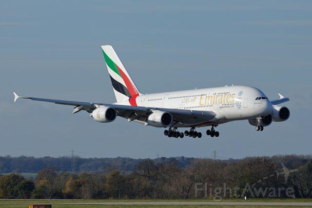 Airbus A380-800 (A6-EDW) - EK17 just before landing at MAN