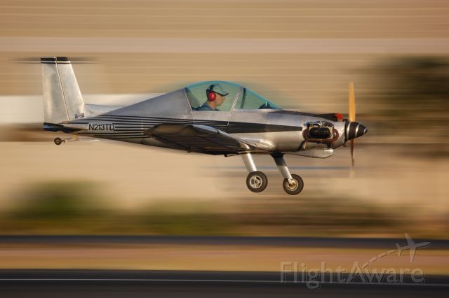 """AEROTEK (2) Hummingbird (N213TD) - Hummel Bird    These specs are with 37hp 1/2 VW engine and 170# pilot.    No spins    Low """"G"""" Aerobatics  Airfoil - modified Clark-Y  HP 37  Wing Span (ft)18  %09  Wing Area (sq. ft.) 57.2  Length (ft) 13"""