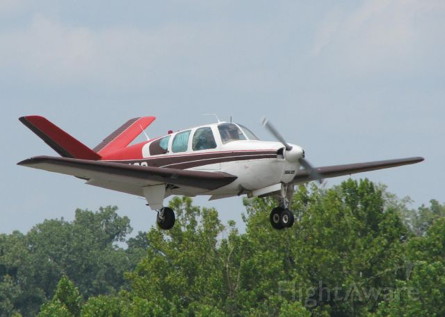 Beechcraft 35 Bonanza (N348G) - Landing at Downtown Shreveport.