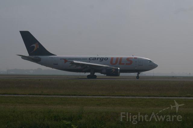 Airbus A310 (TC-VEL) - Shot taken from spottersplaats Polderbaan.