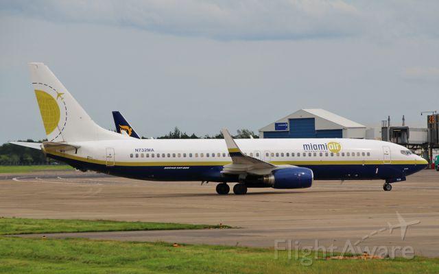 Boeing 737-800 (N732MA) - miami air b737-8 n732ma arriving in shannon 3/7/15.
