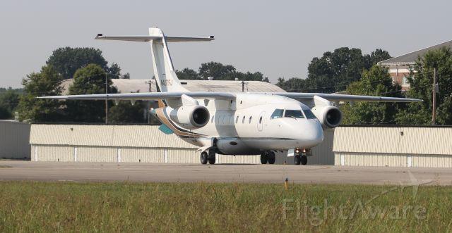 Fairchild Dornier 328JET (N407FJ) - UJC7 - an Ultimate Jet Charter Fairchild Dornier 328-300 (328JET) taxiing after arriving Pryor Regional Airport, Decatur, AL - September 13, 2019.