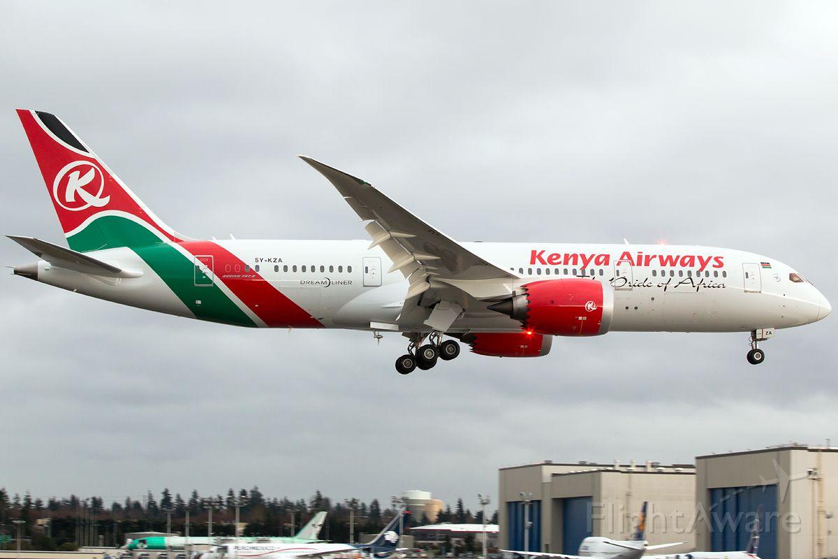 Boeing 787-8 (5Y-KZA) - Kenya Airways first 787-8