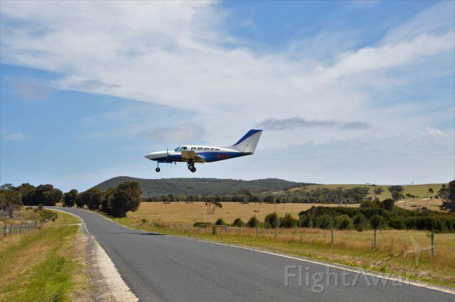 Cessna 402 (VH-ZMG) - Ausjet C402 landing RWY 23 Flinders Island, Jan 2018