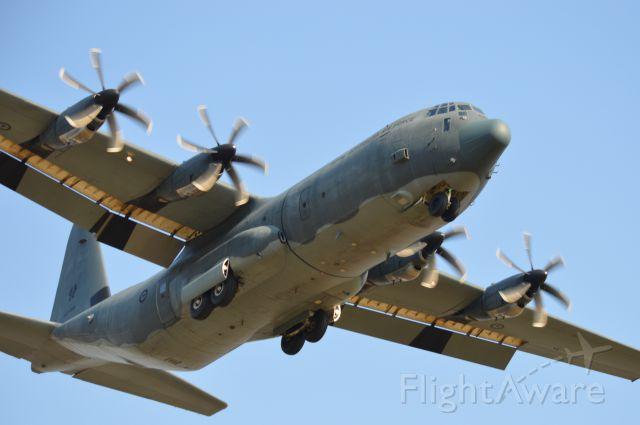 Lockheed C-130 Hercules (A97466) - C130J on short final RWY 32, Flinders Island, Apr 2017