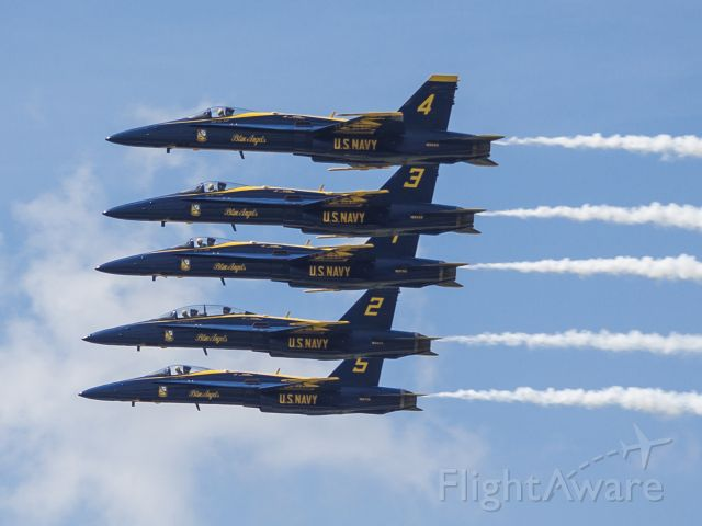 McDonnell Douglas FA-18 Hornet — - Blue Angels at the Dayton Airshow.