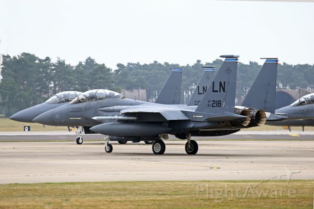 McDonnell Douglas F-15 Eagle — - A flock of Eagles leaving their