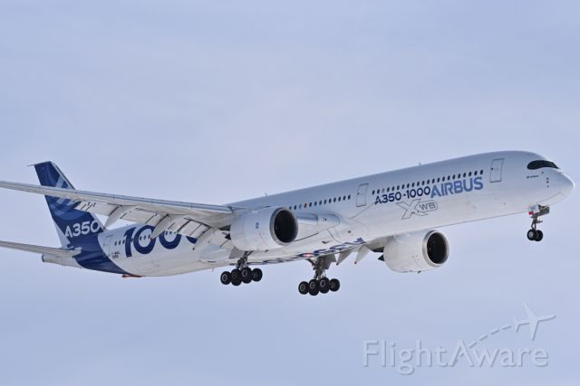 Airbus A350-900 (F-WMIL) - A350 1000 Landing rnwy 26 arriving for cold weather testing