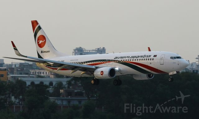 Boeing 737-800 (S2-AHO)