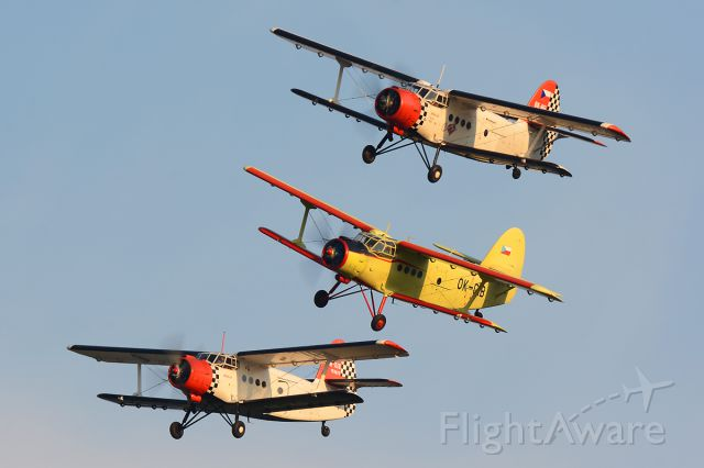 Antonov An-2 (OK-HFL) - Formation together with OK-GIB and OK-XIG
