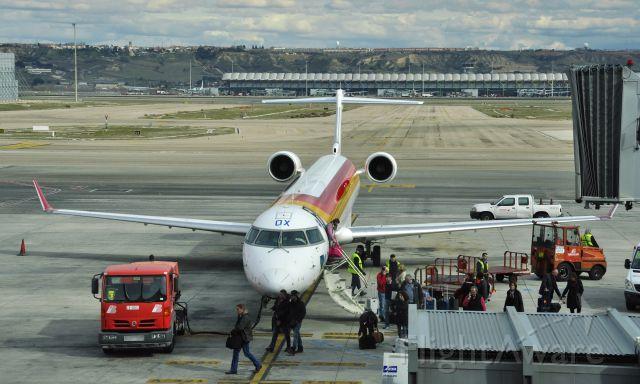 Canadair Regional Jet CRJ-200 (EC-LOX) - Iberia-Air Nostrum Canadair CL-600-2E25 EC-LOX in Madrid