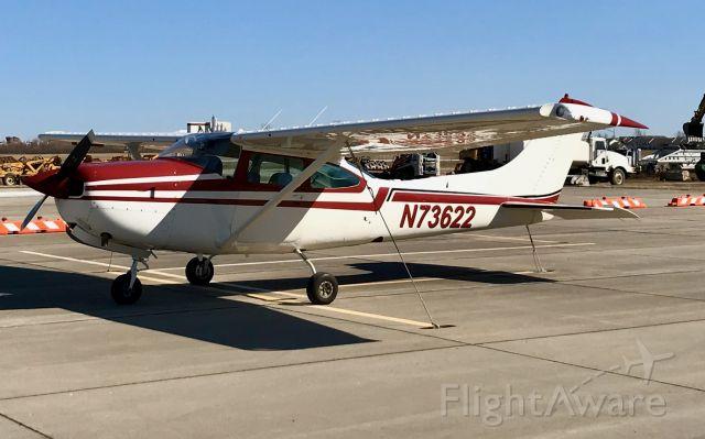 Cessna Turbo Skylane RG (N73622) - On ramp for overnight stay