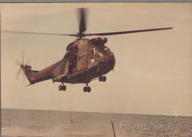 WESTLAND Puma — - RAF Puma Helicopter of 1563 Flight rescue demonstration. Belize 1986.