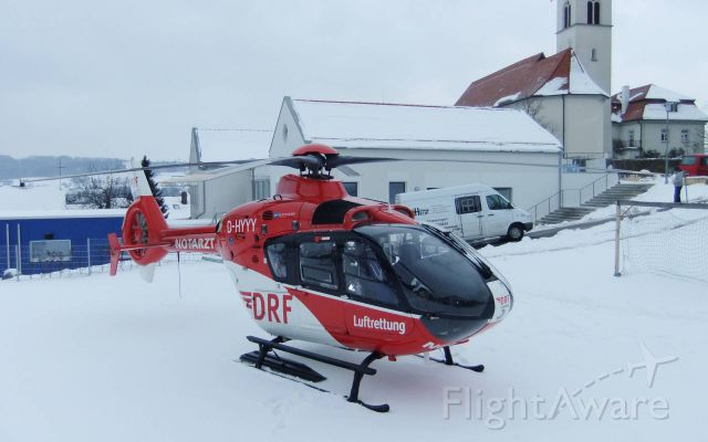 Eurocopter EC-635 (D-HYYY) - EC-H135 rescue helicopter ,  help with resulting spasm / cramp         (DRF)