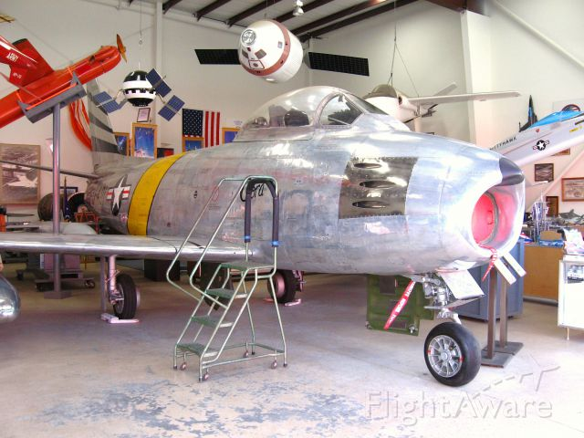 North American F-86 Sabre (55-3937) - On display at the Western Museum of Flight