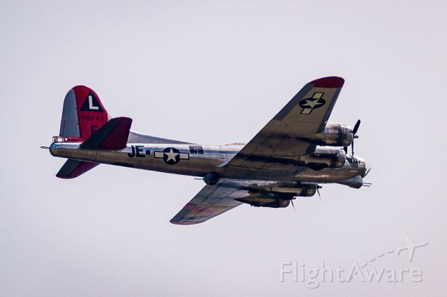 Boeing B-17 Flying Fortress (N3701G) - Flying over Lakewood, Colorado 5/5/18.