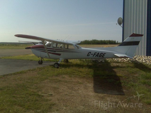 Cessna Skyhawk (C-FAGE) - C-FAGE at Cooking Lake Aviation Academy. (CEZ3) I did my first solo in this bird