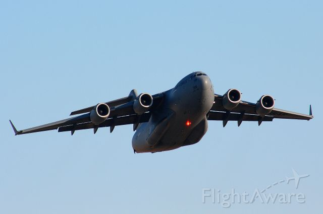 C17 — - A C-17 from the 172D Airlift Wing, Mississippi ANG departs runway 25 at KFSM.