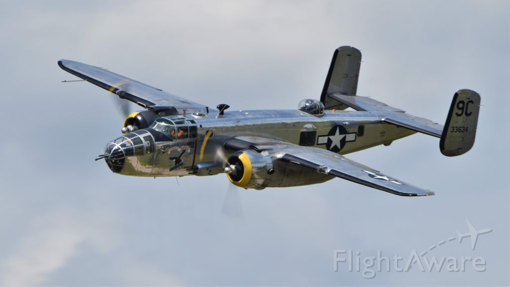 "North American TB-25 Mitchell (N3774) - Yankee Air Museum's B-25D ""Yankee Warrior"" at Thunder Over Michigan 2019"
