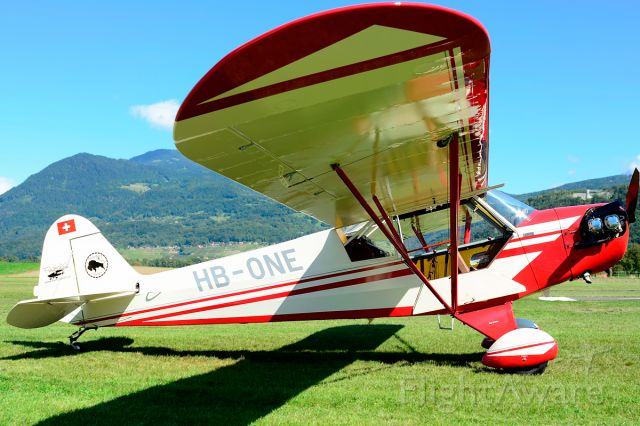 HB-ONE — - 1944 built former 44-80365 (USAF) and ex HB-OEF tanning at Piper Cub FlyIn 2014.