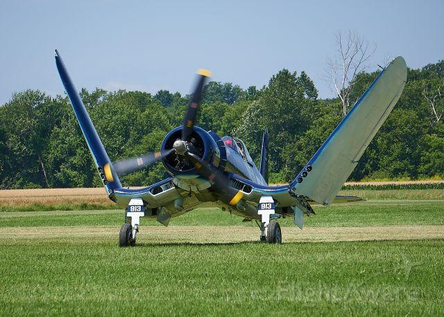 N83JC — - Folding the wings after landing