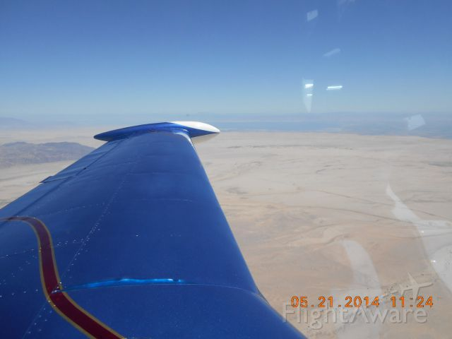 Piper PA-24 Comanche (N333KB) - Eastbound across the Imperial Valley, below the Salton Sea.