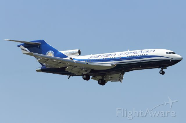 Boeing 727-100 (VP-BPZ) - On approach to Stansted Airport, the day before the Olympic Games 2012 opening ceremony in London.