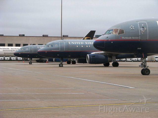 Boeing 757-200 (N544UA) - Diverted flights on the UPS ramp at KRFD