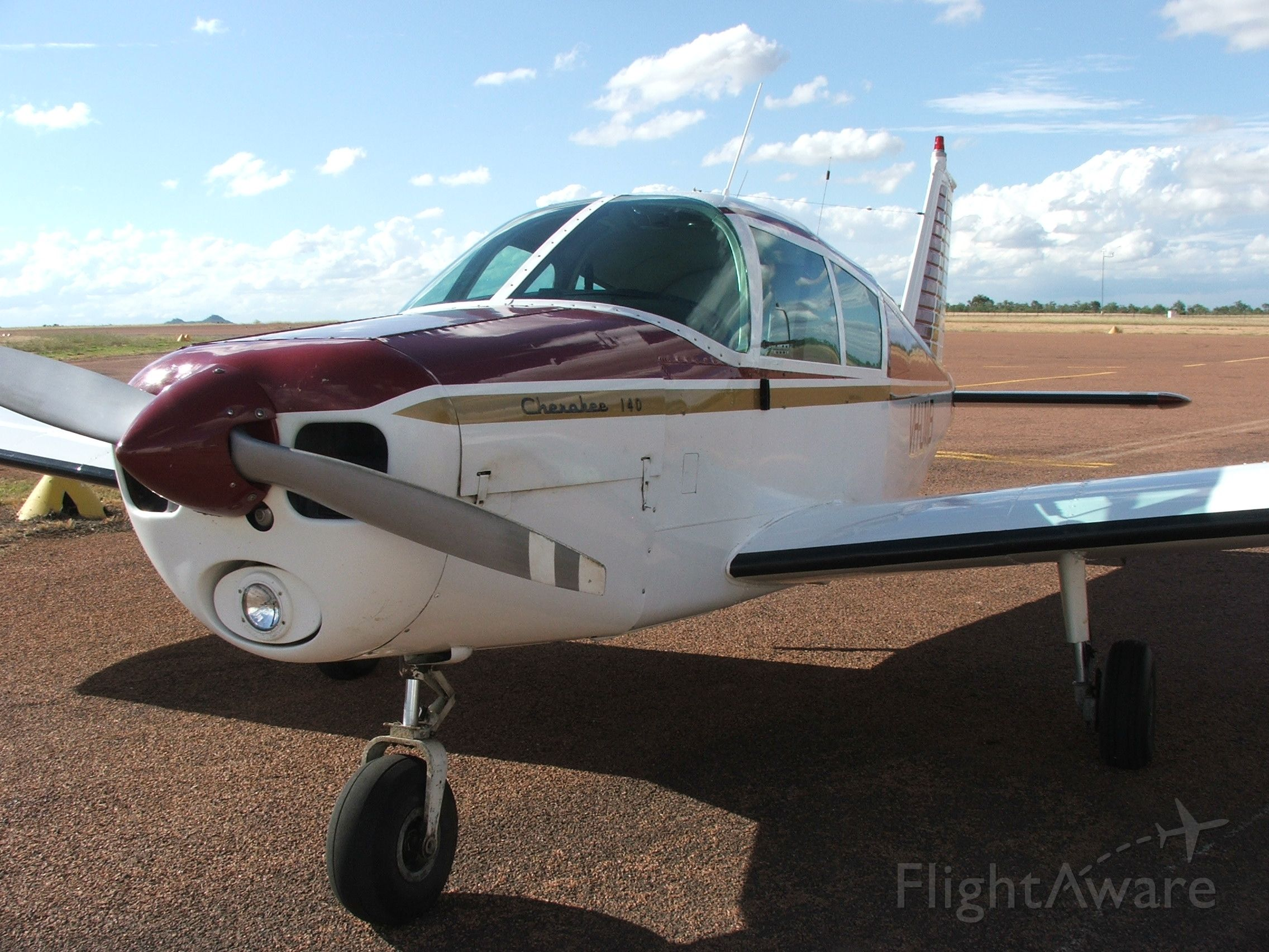 Piper Cherokee (VH-UWB) - VH-UWB at Charters Towers North Queensland.